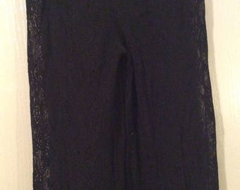 lace pants NWOT medium/also fit small/maybe large/sheer black