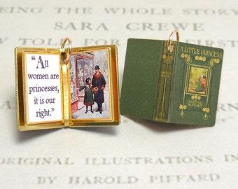 A Little Princess by Frances Hodgson Burnett  - Miniature Book Charm Quote Pendant - for charm bracelet or necklace.