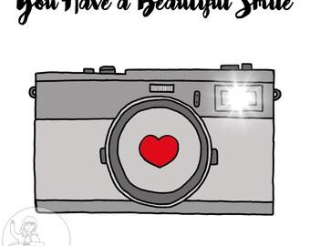 Handmade Personalised Valentine's Day Beautiful Smile Love Flash Grey Girlfriend