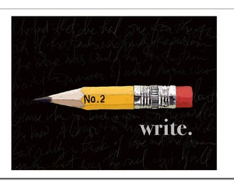 Pencil Illustration Write-Pop Art Print
