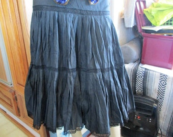 Vintage Black full Skirt/ Petticoat/ Slip