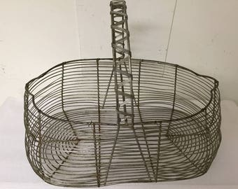 Vintage Wire Egg Basket