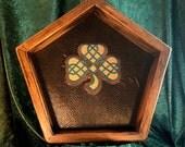 Celtic Knot Work Shamrock Dice Tray