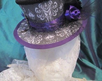 Haunted Mansion, Halloween, Steampunk, Gothic, Victorian Mini Top hat