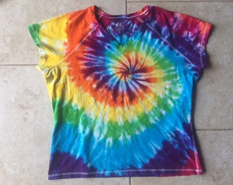 Tie dye ProSpirit Athletic tee shirt size XL upcycled
