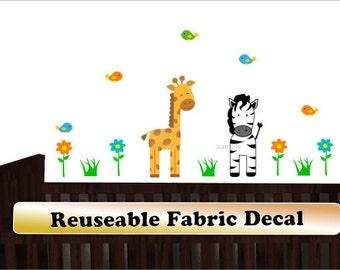 Giraffe Decals, Zebra Wall Decal, Mini Above Over Crib Decals,Jungle Animal Decals,Jungle Wall Sticker For Baby,children room decor - 520d