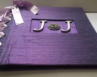 Lavender & White Photo Album, Anniversary Album, Personalized Photo Album for Wedding or Anniversary (made to order)