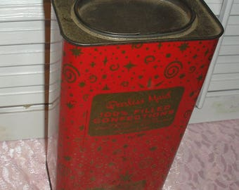 Peerless Maid 100% Filled  with ConfectionsChocolatefilledfruit tin/Nut Filled Tin