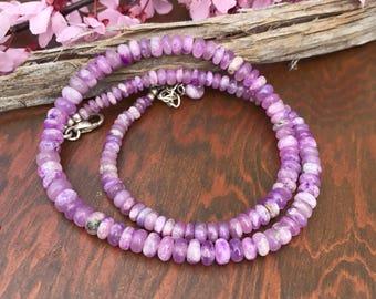 Lovely Pink Gel Sugilite Necklace