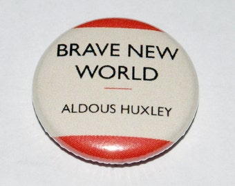 Brave New World Cover Button Badge 25mm / 1 inch Aldous Huxley