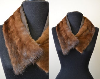 1950s Brown Mink Fur Collar