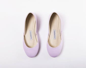 The Minimal Ballet Flats in Lavender Lila | Bridal Ballerina Slippers | Wedding Shoes in Lavender | Last size 42