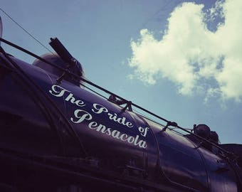 Train Room Decor, Pensacola Railroad, Old Train Photo, Florida Train Photo