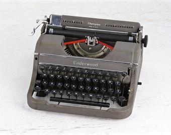 Underwood Champion Typewriter, 1940's Underwood Champion Typewriter, Working Typewriter, Vintage Typewriter, Underwood Typewriter