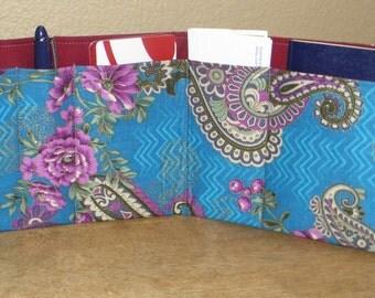 Flat Purse Insert, Passport Wallet, Small Purse, 5 Pockets, Handbag, Tote Bag, Backpack, Briefcase, Diaper Bag, School Bag, Gift for Her