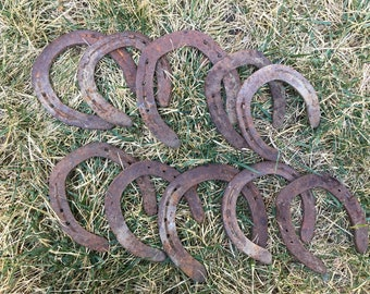 Lot of 10 Vintage Lucky Horse Shoes