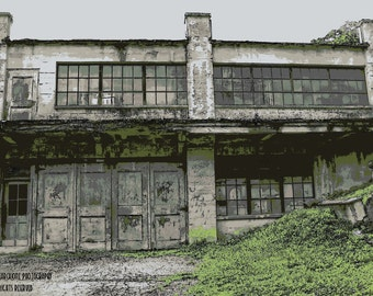"""Signed Original Photograph """"FACTORY IN DANIELSVILLE"""" ∎ Print With Mat ∎ Or Print Only"""