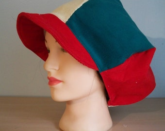 Mens Womens Red Yellow Green Corduroy Apple Newsboy Rasta Hat