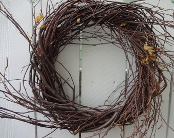Birch Twig Wreath  Natural Wreath  Door Wreath  Rustic Wreath  Hand Crafted Wreath   Twig Wreath  Twigs  Bich Wreath