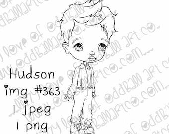 INSTANT DOWNLOAD Big Eye Boy Digital Stamp - Hudson Image No.363 by Lizzy Love