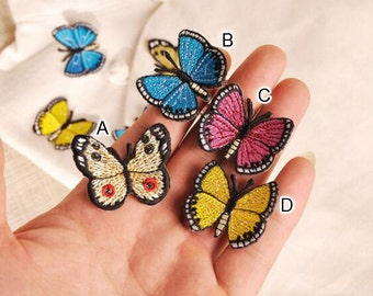 20pcs 3x2.7cm wide yellow/red/blue butterflies clothes dress embroidery lace appliques patches G51H27J128K free ship
