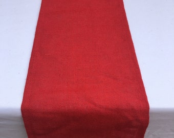 Burlap Table Runner, Red Burlap, Ready to SHIP, Use for Wedding, Party, Shower, Home Decor