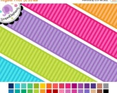 40% OFF SALE Digital Clip Art - Striped Digital Ribbons - Instant Download - Commercial Use