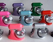 Dollhouse Miniature Electric Flour Mixer for Dolls House FREE SHIPPING Kitchen Cake Cooking Supply Choose from many Colors