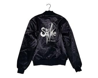 Vintage THE SPIKE New York City Gay Club All Black Nemesis Brand Bomber Jacket, Made in USA - Medium
