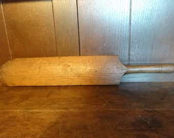 Antique English Childs Small Cricket Bat Worn bashed circa 1900's / English Shop