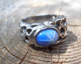 Eye of Odin Vintage Wizard Ring. (Norse Odin 1960s wizard pagan heathen asatru magic witchcraft) Size 8 1/2