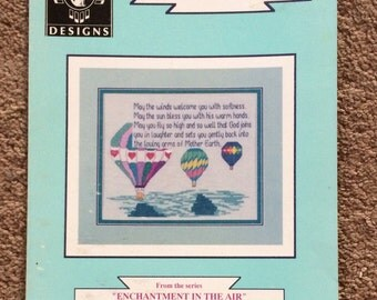 Balloonist Prayer, Counted Cross Stitch Pattern, Cross Stitch, Daystar Designs, Balloon, Prayer