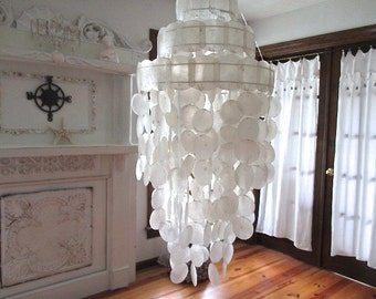 Large Three Tier Capiz Chandelier/Wind Chimes