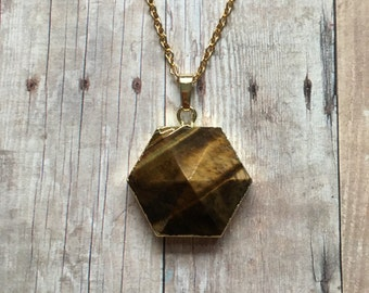 Gorgeous tigers eye necklace