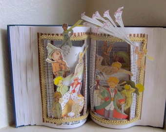 The Little prince Altered book pop-up style  altered Art