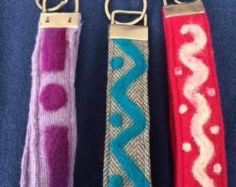 Key Fobs Wristlets Handmade #2 Needle Felted Designs