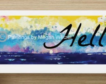 Beach Hello Post Cards