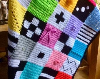 Sensory Style Crochet Baby Blanket