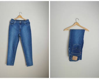 vintage 80s  levi's 550 usa made mom jeans high waisted denim -- womens 30x30