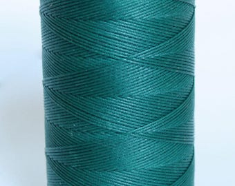 whole spool. 500m, waxed nylon cord, macrame cord, waxed polyester, blue, teal,  0.8 mm. flat braid, jewelry making, flat braid, cord