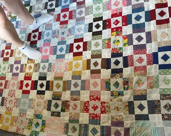 Square on Square quilt top
