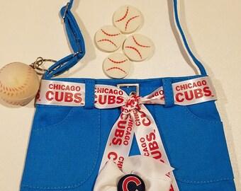Chicago Cubs Embellished Royal Blue Denim Skirt Purse