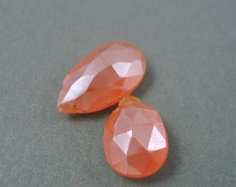 Destash Two Pieces Mystic Carnelian Pear Brios Approx 7MM x 13MM and 8MM x 10MM