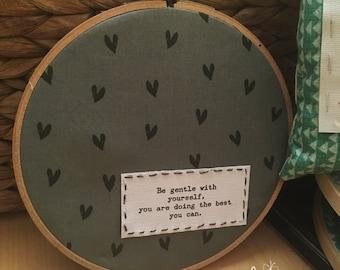 Embroidery Hoop art - christian/inspirational art for your heart