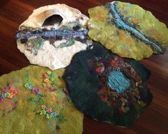 Set of four seasons hand felted handmade play mats nayure pretend play