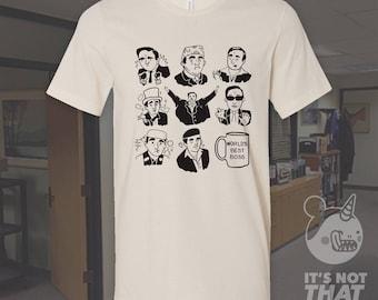 Michael Scott Alter Egos Tee   The Office Fan Art Tshirt   Prison Mike   Michael Scarn   Michael Klump
