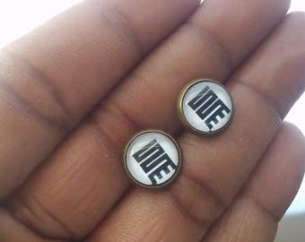 Nykinkyim Earrings - Maze Earrings - Adinkra Symbol Studs - Adinkra Symbo Earrings