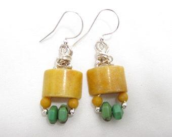 Turquoise & Aragonite Earrings