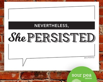"DIY Printable - ""Nevertheless, She Persisted"""