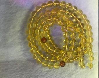 8 mm Round Amber AAA Grade 108 Beads Semiprecious Gemstone  Jewelry Supply Wholesale Beads